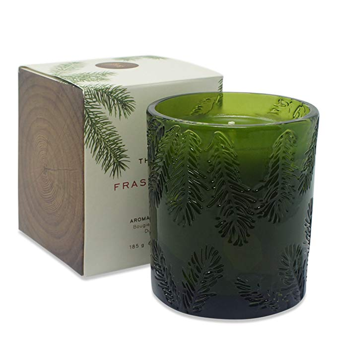 Frasier Fir Molded Green Glass Candle - Grace & Grits