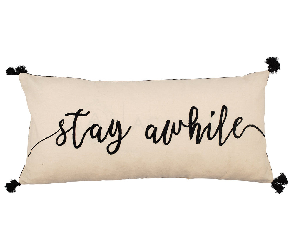Stay Awhile Throw Pillow - Grace & Grits