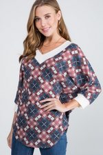 Diamond in The Rough Waffle Knit Top