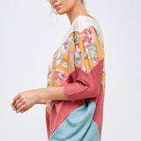 Totally Florally You 3/4 Sleeve Top