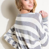 Out Of Line V-Neck Sweater