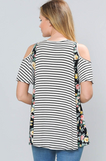 Into The Garden Cold Shoulder Top