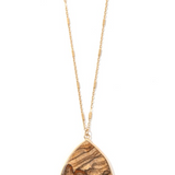 Desert Sands Tear Drop Necklace