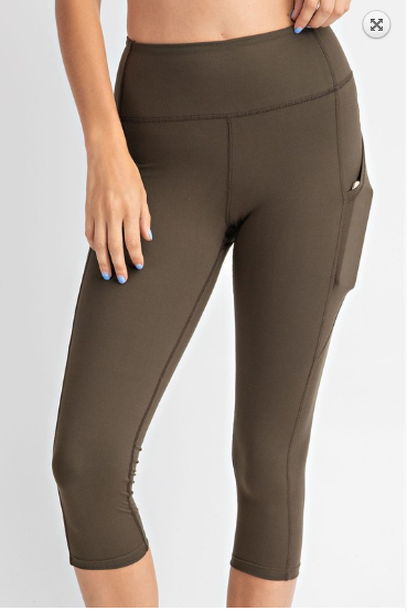 Yoga-na Love These Capri Leggings in Olive