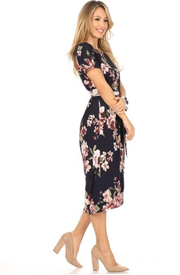Walking In a Dream Floral Midi Dress