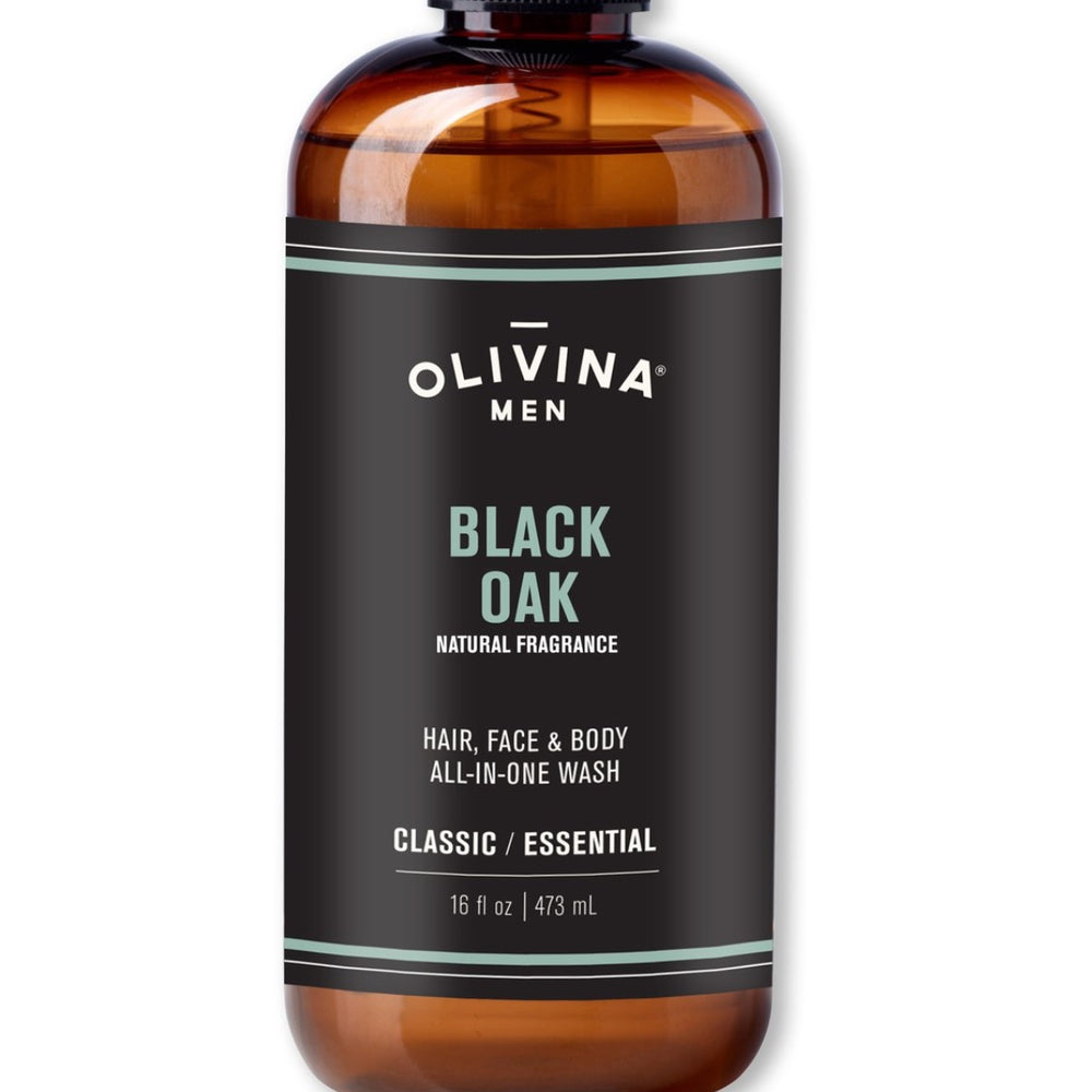 Olivina Men 16oz. All-in-One Black Oak Body Wash - Grace & Grits