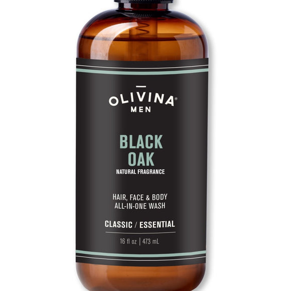 Olivina Men 16oz. All-in-One Black Oak Body Wash