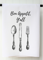 """Bon Appetit, Y'all"" Tea Towel"