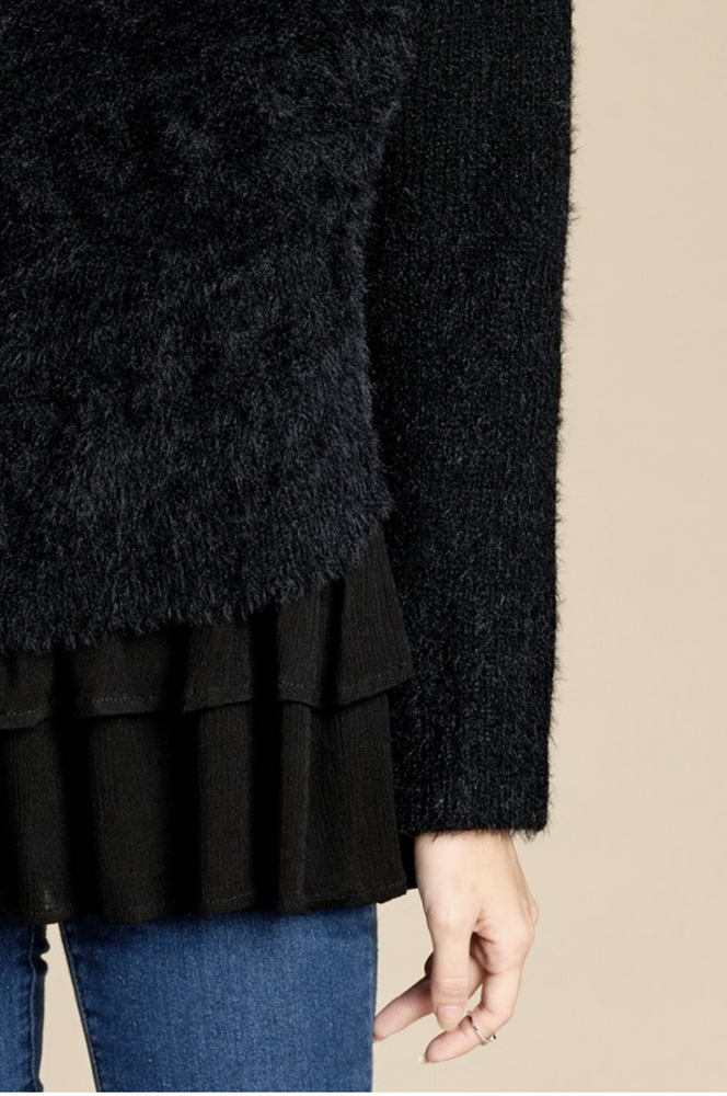 Be Your Best Layered  Ruffle Sweater