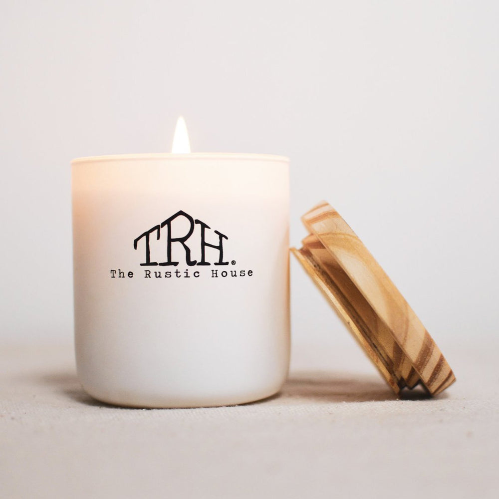 The Rustic House Rosewood Amber Candle