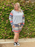 Epic Fall Striped Shorts Set