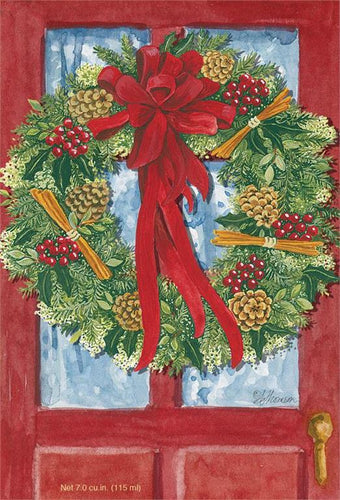 Red Door Wreath Sachet
