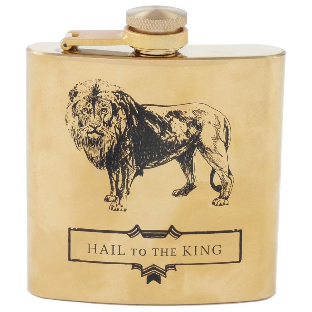 Hail to the King Men's Gold Flask
