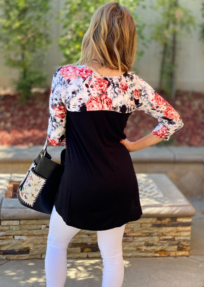 Garden Gal 3/4 Sleeve Top