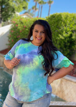 Drift Away Tie Dye Bell Sleeve Top