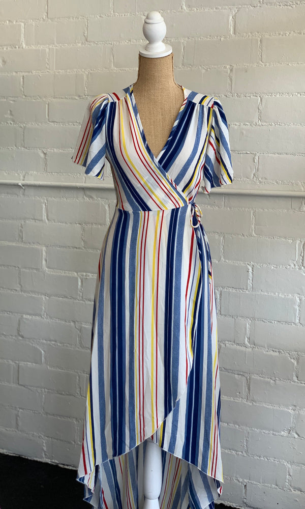 {Kate} High Low Wrap Dress - Grace & Grits