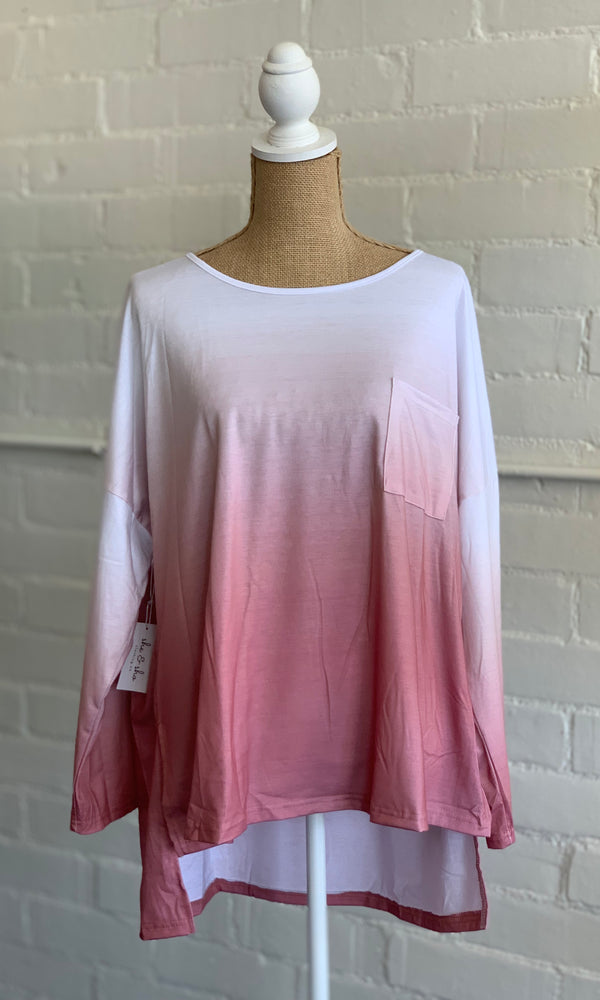 {Betty} Mauve Ombre Top - Grace & Grits