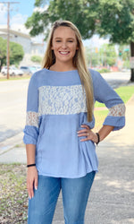 {Francis} Blue Lace Blouse