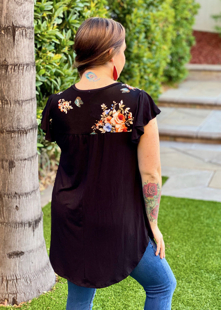Butterfly Kisses Flutter Sleeve Top