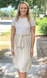 {Connie} Stripe Top Dress - Grace & Grits