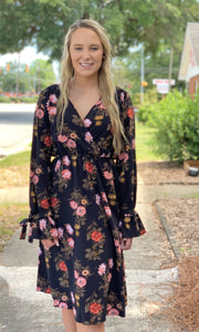 {Delilah} Floral Long Sleeve Dress