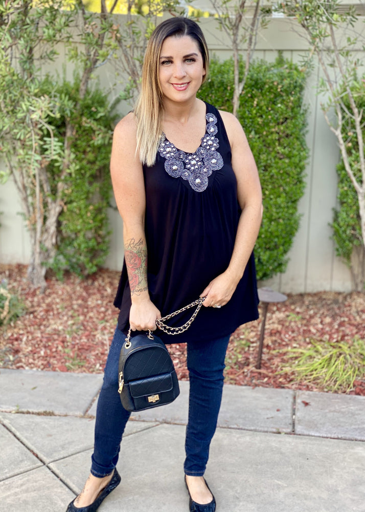 All That Jazz Tank Tunic in Black