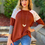 In The Valley 3/4 Sleeve Top
