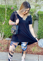 Night Shining Criss Cross Tunic