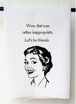 """Let's Be Friends"" Tea Towel - Grace & Grits"