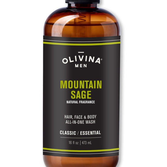 Olivina Men 16oz. All-in-One Mountain Sage Body Wash