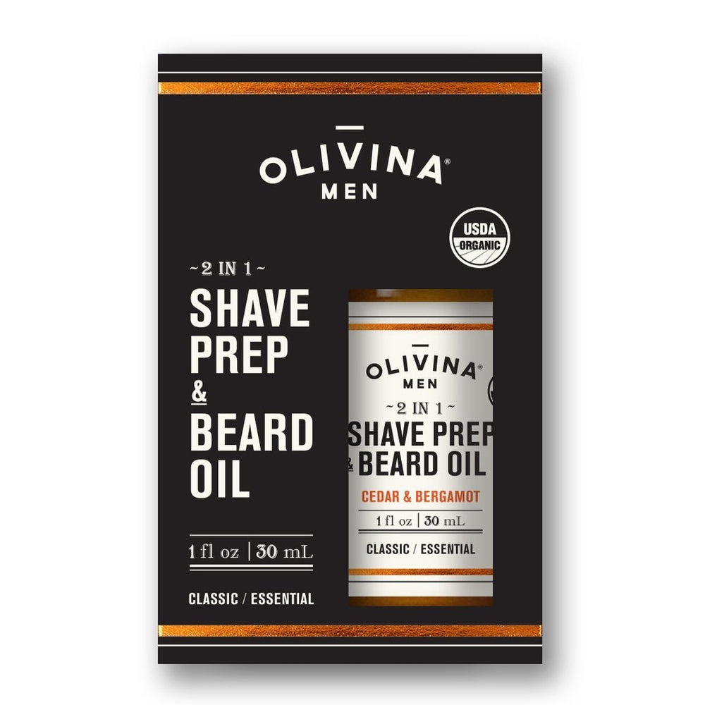 Olivina Men 1oz. Shave Prep & Beard Oil - Grace & Grits
