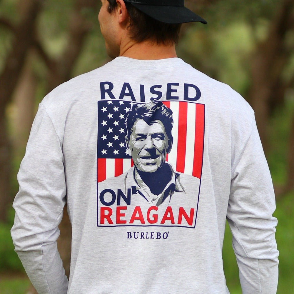BURLEBO Raised on Reagan T-Shirt - Grace & Grits