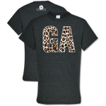 Southern Couture Leopard GA T-Shirt - Grace & Grits