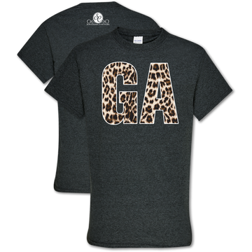 Southern Couture Leopard GA T-Shirt