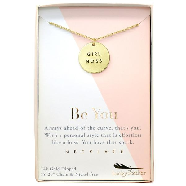Girl Boss Necklace - Grace & Grits