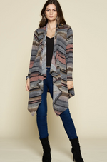 Safe Travels Open Front Cardigan