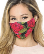 Graphic Rose Mask with PM2.5 Filter