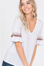 Fiesta Tassel Trim Top