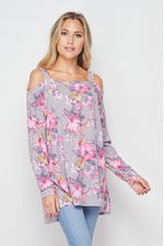 Foggy Mornings Cold Shoulder Tunic