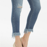 On The Fringe Kan Can Capri Skinnies