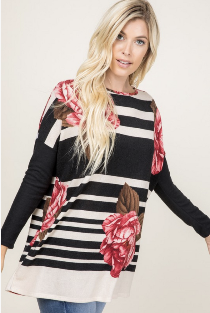 Rosie Posie Long Sleeve Tee