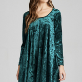 Winter Wonderland Velvet Swing Dress