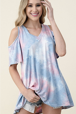 Cotton Candy Bliss Cold Shoulder