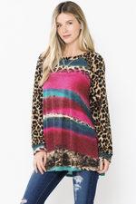 Sunset in the Tropics Long Sleeve Tunic