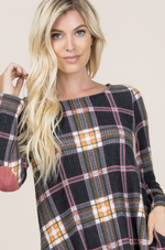 Take on the Day Plaid Tunic Dress