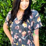 Gorgeous Floral Front Knot Top