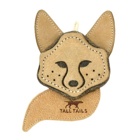 Scrappy Fox Leather Dog Toy - Grace & Grits