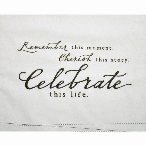 """Celebrate"" Table Runner - Grace & Grits"