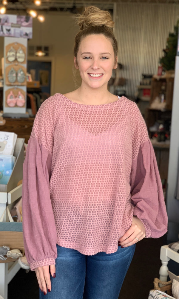 {Justine} Mauve Sweater - Grace & Grits