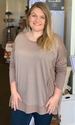 {Jessica} Plus Size Striped Top